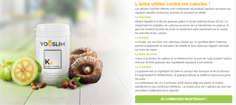 Yooslim France Avis: Prix, Ingrédients, arnaque, ou acheter